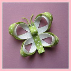 Ribbon Butterfly Hair Clippy