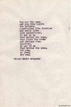 Typewriter Series #209 by Tyler Knott Gregson