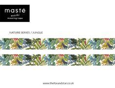 Giungla Pattern botanici Washi Tape Masté nastro di foxandstar