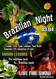 Brazilian Night at Folie Club poster