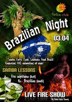 Brazilian Night at Folie Club poster