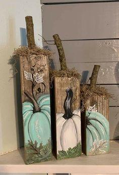 Fall Pumpkin Crafts, Fall Wood Crafts, Halloween Wood Crafts, Autumn Crafts, Fall Pumpkins, Fall Halloween, Holiday Crafts, Fall Projects, Fall Decorations