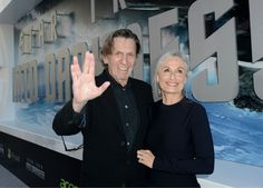 Leonard Nimoy, 82, (original Spock) and wife Susan Bay attend the premiere of Paramount Pictures Star Trek Into Darkness at the Dolby Theatre in Hollywood, California on May 14, 2013. Nimoy is giving his characters Vulcan Live Long and Prosper salute.