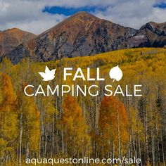 Have you ever been camping in the Fall? It's such an enjoyable way to experience the changing seasons stay active and cozy up warm by the fire in the great outdoors.  We're having a big sale on our website where you can get many essential items for staying warm and dry this fall. Tarps waterproof bivys waterproof backpacks drybags and more. Visit our website at http://ift.tt/1MLKJL4 (clickable link is in our bio). Photo credit: AQ Ambassador @chucklepley  #aqauquest #waterproof #camping…