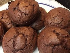 Healthy chocolate banana muffins. 21 day fix approved recipe! 21 day fix desserts