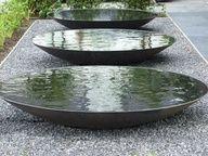 Steel Water Bowl/Garden Water Feature/Dish/Metallic Grey in Water Features In The Garden, Garden Features, Landscape Architecture, Landscape Design, Architecture Geometric, Installation Architecture, Art Installation, Landscape Art, Architecture Design