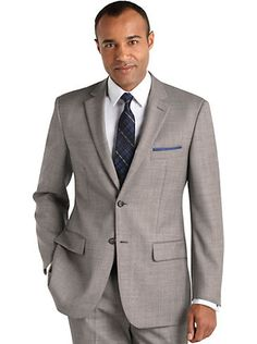 Neutral colors with a subtle sheen make this Pronto Uomo Black & White Sharkskin #suit simply polished.