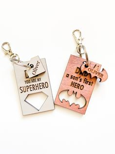 Laser Art, Laser Cut Wood, Laser Cutting, You Are My Superhero, Wooden Christmas Tree Decorations, Gravure Laser, Laser Cutter Projects, Wooden Keychain, Acrylic Keychains