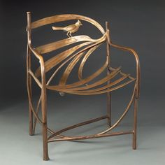 Claude Lalanne Structure, A Bronze Armchair. This and other important decorative arts on the CuratorsEye.com