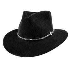 Diamond Jim Stetson Fur Felt Western Hat, black Felt Cowboy Hats, Hat Styles, Outdoor Hats, Western Hats, Leather Hats, Diamond Shapes, Hats For Men, Westerns, Men's Fashion