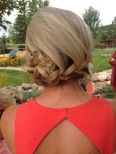French braid side bun - My Work - Hochzeitsfrisuren-braided wedding updo-Wedding Hairstyles Ball Hairstyles, Formal Hairstyles, Cute Hairstyles, Hairdos, Wedding Braids, Braided Hairstyles For Wedding, Hair Inspo, Hair Inspiration, Bridesmaid Bun