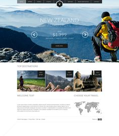 Like-a-lot! Minimalistic travel website.  (Travel web by Tomas Zeman, via Behance)