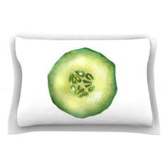 East Urban Home Cucumber by Theresa Giolzetti Pillow Sham Size: Queen