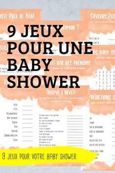 Idee Baby Shower, Shower Bebe, Unique Baby Shower, Baby Shower Garcon, Hidden Words, Baby Prediction, Group Games, Small Baby, First Names