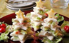 Alberelli di pancarrè farciti, ricetta antipasti natalizi