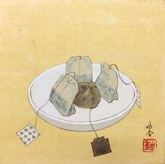 身近な物や日常風景をモチーフにしたユニークな日本画を描く葛西由香氏の個展「日々とあそび」 - MdN Design Interactive - デザインとグラフィックの総合情報サイト