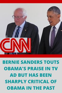 Democratic presidential candidate Bernie Sanders is tying himself to former President Barack Obama in a new TV ad despite years of criticizing him and his administration. CNN's Andrew Kaczynski reports.