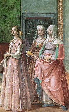 Ghirlandaio - Lucrezia Tornabuoni (1425-1482) sarebbe la donna più anziana - Cappella Tornabuoni, Santa Maria Novella