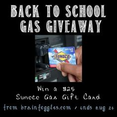 Win a $25 Sunoco Gas