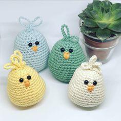 `PÅSKE KYLLER´ | Easter Crochet Patterns, Crochet Birds, Crochet Art, Crochet Patterns Amigurumi, Crochet Crafts, Crochet Toys, Crochet Projects, Free Crochet, Diy And Crafts