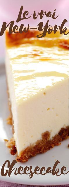 Le vrai New-York cheesecake - Desserts Newyork Cheesecake, New York Cheesecake Rezept, Cheesecake Recipes, Dessert Recipes, Pecan Cake, Mini Cheesecakes, Savoury Cake, Food Cakes, Love Food