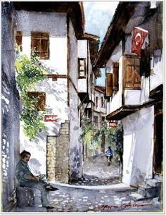 ORHAN GÜLER - Turkish Artist Painter from DENİZLİ (Watercolor)