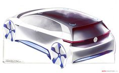 Volkswagen Electric Car Previewed in New Design Sketches