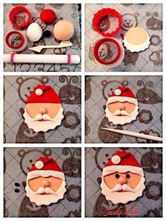 New cupcakes christmas fondant papa noel Ideas Christmas Cupcake Toppers, Christmas Cake Designs, Christmas Cake Decorations, Christmas Sweets, Christmas Cooking, Christmas Goodies, Christmas 2019, Red And Gold Christmas Tree, Winter Wonderland Christmas