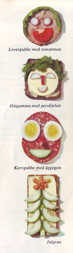 Swedish, food, and cute little faces! Perfect! These are sandwiches.