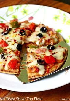 Tawa pizza recipe - pizza without oven and without yeast Healthy Dinner Recipes, Indian Food Recipes, Cooking Recipes, Snacks Recipes, Sandwich Recipes, Dessert Recipes, Desserts, Pizza Recipes Without Yeast, Pizza Recipe Without Oven