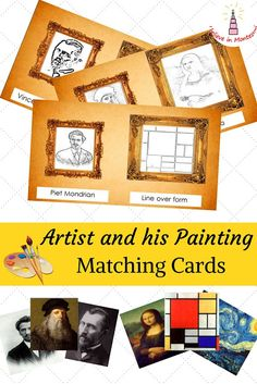 Art Appreciation: Level 6. Artist and his Painting Montessori-inspired Art Cards