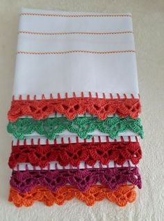 Crochet Edging Patterns, Granny Square Crochet Pattern, Crochet Borders, Crochet Designs, Crochet Tunic, Crochet Tote, Love Crochet, Chrochet, Crochet Kitchen