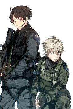 Inaho & Slaine   Aldnoah Zero