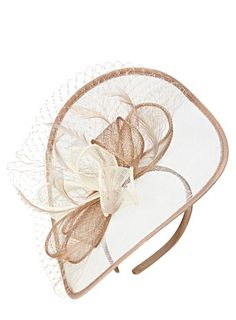Cream Multi Folded Bow Disc Fascinator