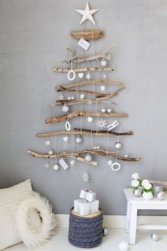 noel, christmas navidad – – 37 super easy diy christmas crafts ideas for kidslaser cut ornament wooden christmas tree ideawhat do your christmas decorations say about you Driftwood Christmas Tree, Coastal Christmas, Diy Christmas Tree, Christmas Holidays, Christmas Ornaments, Christmas Design, Driftwood Christmas Decorations, Beach Christmas Decor, Xmas Trees