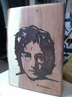 John Lennon done on cedar