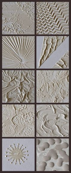 10 ways to use modeling paste to create texture in a painting. www.deschdanja.ch