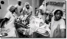 African American doctors attempting to save the life of a Klu Klux Klan member.