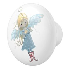 Little Star Angel Ceramic Knob ideal for nursery / children's bedroom