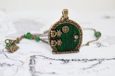 16 perfect gifts every hobbit fan needs! Bag End Hobbit Hole Door Locket O Hobbit, Hobbit Hole, Hobbit Gifts, Tolkien Hobbit, Jewelry Rings, Unique Jewelry, Jewlery, Nerd Jewelry, Book Lovers