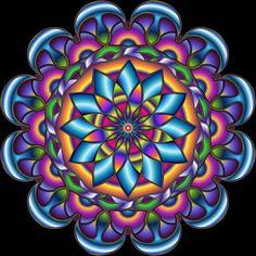 Quality diamond painting mandala with free worldwide shipping on AliExpress Mandala Art, Design Mandala, Mandalas Painting, Mandala Drawing, Art Fractal, Mandala Coloring, Psychedelic Art, Sacred Geometry, Doodle Art