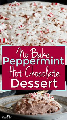 Peppermint Hot Chocolate Dessert Peppermint is a favorite holiday flavor This easy dessert is perfect for the holidays Combining peppermint and hot chocolate flavors in a. Hot Fudge Cake, Hot Chocolate Fudge, Dessert Chocolate, Chocolate Flavors, Chocolate Recipes, Winter Desserts, Desserts For A Crowd, Easy Desserts, Dessert Recipes