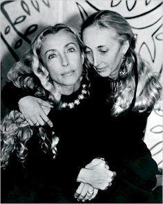 Franca Sozzani & her sister Carla