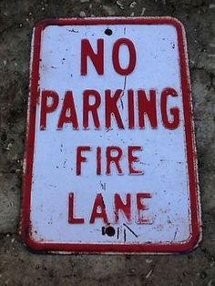 "TIN SIGN ""No Parking Fire"" Metal Decor Wall Art Street Station Bar Cave A134"
