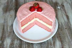 OMG - Strawberry Cheesecake Cake