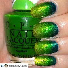 By @coloursbykatrin ・・・ OPI - Landscape Artist, Primarily Yellow and Turquoise Aesthetic in a gradient mani on top of Enchanted Polish - Amazing. My first gradient! What took me so long? @opi_products @opisverige @enchantedpolish #opi #opicolorpaints #colorpaints #enchantedpolish