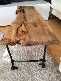 Live Edge Table with hairpin legs, Live Edge Coffee table with metal legs… Diy Table Legs, Wood Table Legs, Slab Table, Live Edge Furniture, Tree Furniture, Salvaged Furniture, Rustic Furniture, Refinished Furniture, Salvaged Wood