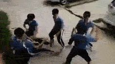Footage of kid fighting back against bullies in China.