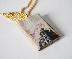Rosemary's baby mini book necklace by Bunnyhell on Etsy, €18.00