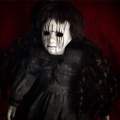Bastet2329 OOAK Creepy Mourning Gothic Death Metal Doll